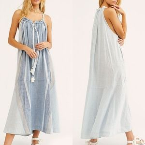 NWT Free People Paradise and Back Striped Maxi Dre